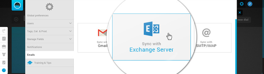 Email Settings - Synchronize with Exchange Server