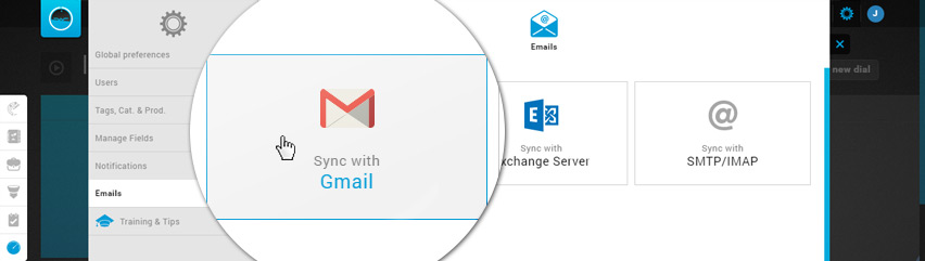 Email Settings - Sync with Gmail
