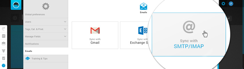Email Settings - Synchronize with IMAP - SMTP