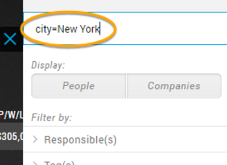 Search by City in UPilot CRM