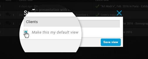 Deals select default custom view